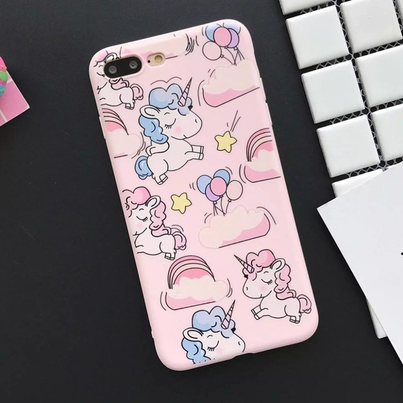 Accessories - NEW iPhone 7/8 Pink Unicorn Case